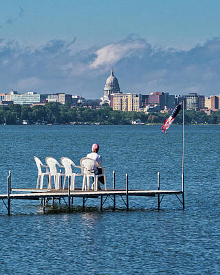 Photograph - Madison Capitol Across Lake Mendota by Steven Ralser