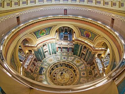 Photograph - Madison Capitol Rotunda by Steven Ralser
