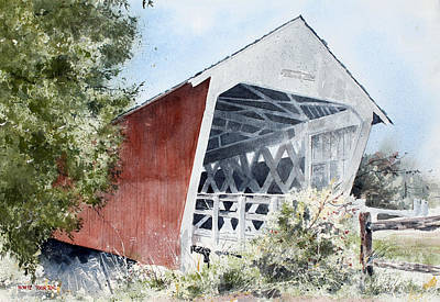 Painting - Madison County Bridge by Monte Toon