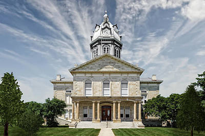 Photograph - Madison County Courthouse Winterset Iowa  -  Std1 by Frank J Benz