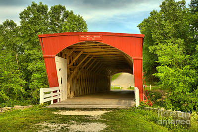 Photograph - Madison County Holliwell Bridge by Adam Jewell