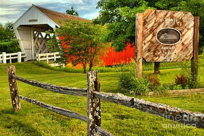 Photograph - Madison County Imes Bridge by Adam Jewell