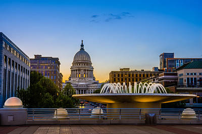 Photograph - Madison Domes by Mark Goodman