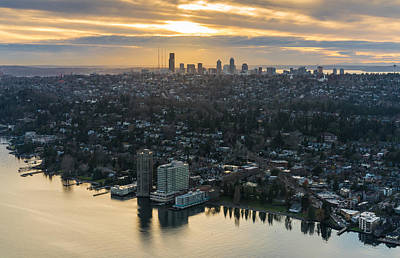 Skylines Royalty-Free and Rights-Managed Images - Madison Park and the Seattle Skyline by Mike Reid