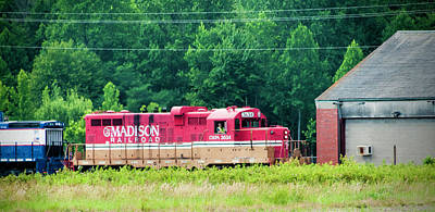 Photograph - Madison Railroad Engine by Phyllis Taylor
