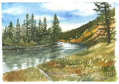 Madison River Art Print by Trevor Lewis