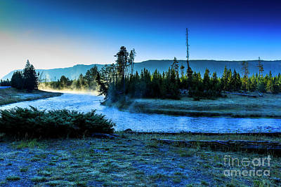 Photograph - Madison River Yellowstone At Dawn by Ben Graham