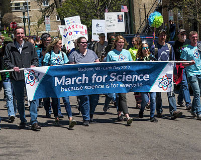 Madison Science March - 1 Art Print by Steven Ralser