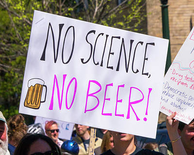 Photograph - Madison Science March Sign 10 by Steven Ralser