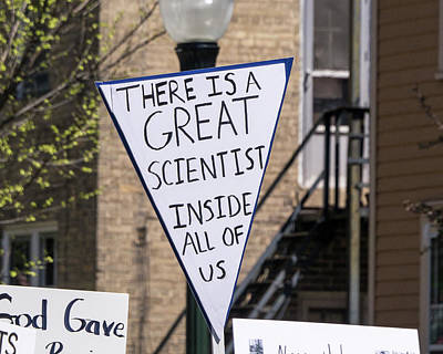 Photograph - Madison Science March Sign 2 by Steven Ralser