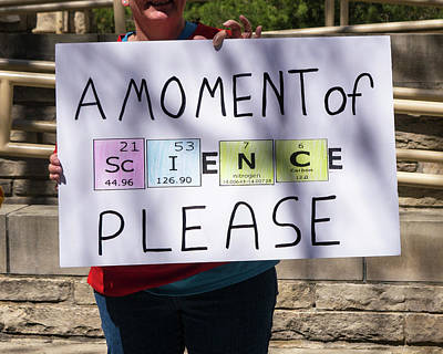 Photograph - Madison Science March Sign 5 by Steven Ralser
