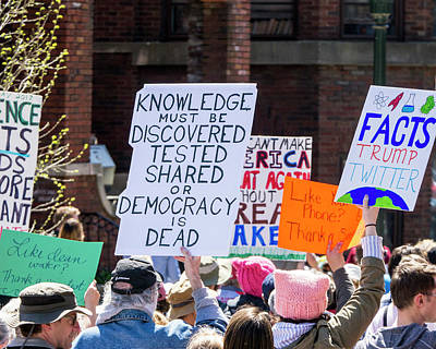 Photograph - Madison Science March Sign 7 by Steven Ralser