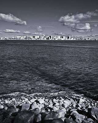 Photograph - Madison Skyline - Black And White by Steven Ralser