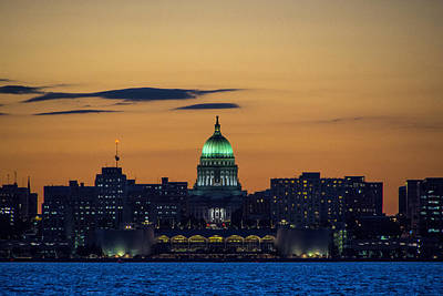 Wall Art - Photograph - Madison Skyline by Maureen Janson Heintz