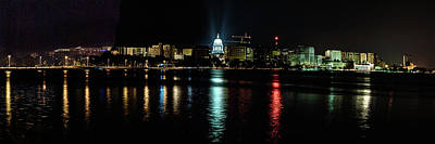 Photograph - Madison Skyline by Randy Scherkenbach