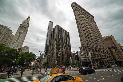 Madison Square Flatiron And Clock Tower New York Ny Art Print