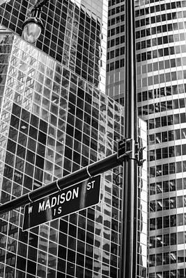 Photograph - Madison Street Architecture by John McArthur