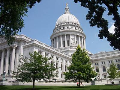 Madison Wi State Capitol Art Print