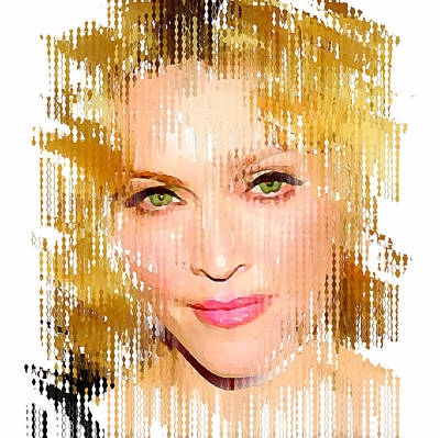 Madonna Digital Art - Madonna Abstract 1 by Yury Malkov