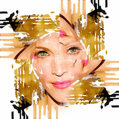 Madonna Digital Art - Madonna Abstract 2 by Yury Malkov