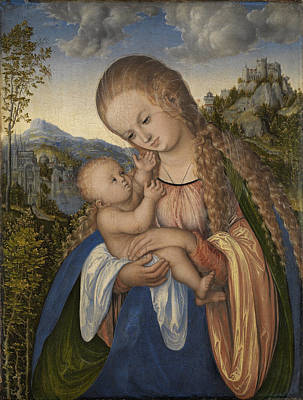 Painting - Madonna And Child 2 by Lucas Cranach the Elder
