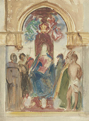 Drawing - Madonna And Child And Saints by John Singer Sargent
