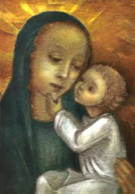 Child Jesus Painting - Madonna And Child Ausschnitt by Ausschnitt