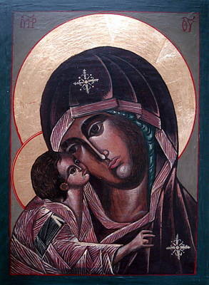 Byzantine Mixed Media - Madonna And Child by Buff Holtman
