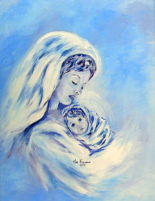 Madonna And Child By May Villeneuve Art Print