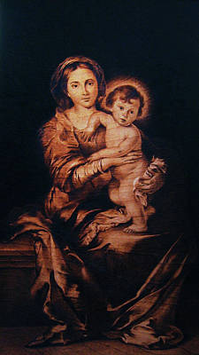 Pyrography - Madonna And Child by Dino Muradian