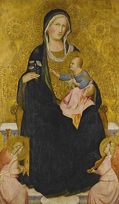 Painting - Madonna And Child Enthroned With Music-making Angels by Agnolo Gaddi