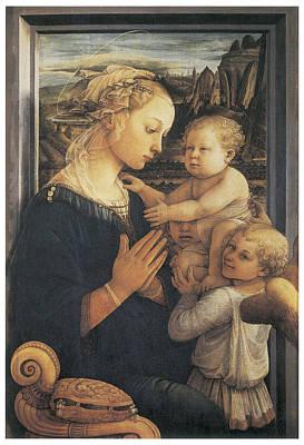 Madonna And Child Art Print by Fra Filippo Lippi