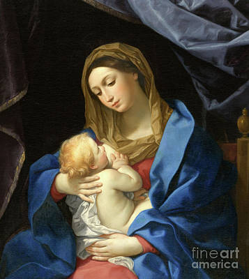 Breastfeeding Painting - Madonna And Child by Guido Reni