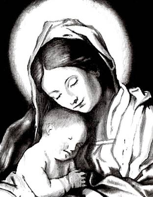 Painting - Madonna And Child by Joe Dagher