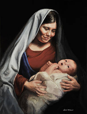 Painting - Madonna And Child by Sister Laura McGowan