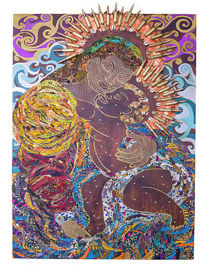 Tapestry - Textile - Madonna And Child The Sacred And Profane by Apanaki Temitayo M