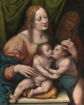 Saint Elizabeth Painting - Madonna And Child With Saint Elizabeth And The Infant Saint John The Baptist by Giampietrino