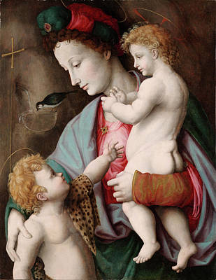 Painting - Madonna And Child With St. John by Bacchiacca