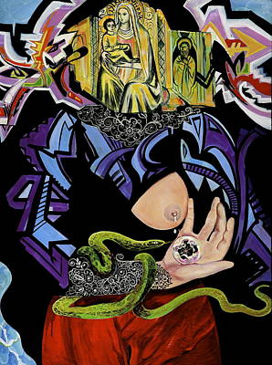 Painting - Madonna And Snake by Yelena Tylkina