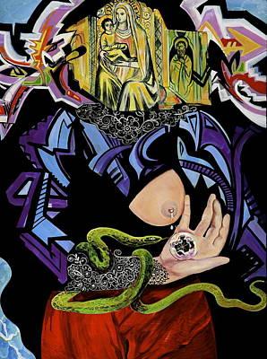 Painting - Madonna And Snake by Yelena Tylkina