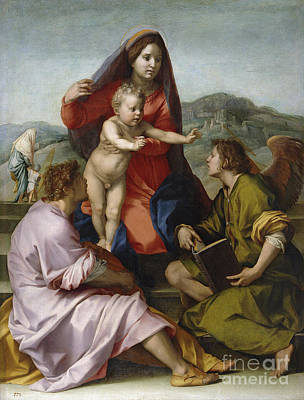 Sarto Painting - Madonna Della Scala by Celestial Images