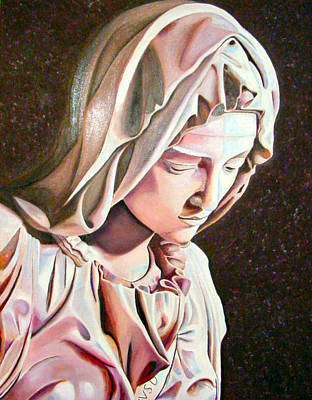 Painting - Madonna From The Pieta by JoeRay Kelley