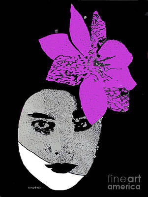 Madonna Girl Art Print by Nancy Mergybrower