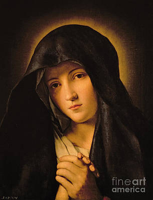 Virgin Mary Painting - Madonna by Il Sassoferrato