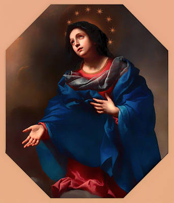 Christian Artwork Painting - Madonna In Glory by Mountain Dreams