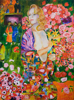 Painting - Madonna In Klimt by Nik Helbig
