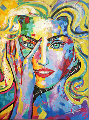 Painting - Madonna by Jay V Art