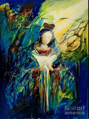 Virgen Mary Painting - Madonna by Jose Pena