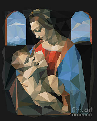 Christian Artwork Digital Art - Madonna Litta by Igor Kislev