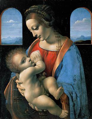 Madonna Painting - Madonna Litta, Madonna And The Child by Leonardo da Vinci